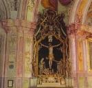 Unutrašnjost crkve Majke Božje Jeruzalemske na Trškom vrhu