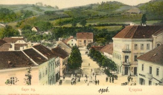 Krapina, trg 1906g.